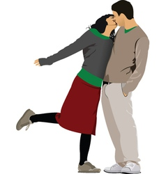 Love couple vector