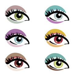 Make up eyes vector