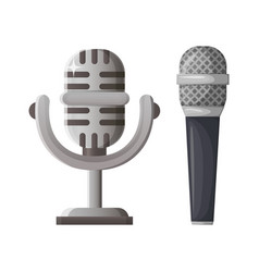 music microphone silver prize for contest winner vector image