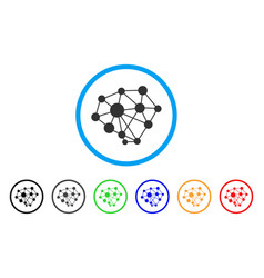 Network rounded icon vector