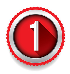 Number One badge vector image