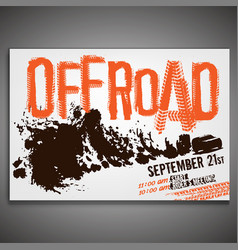 Off-road horizontal poster vector