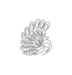 one continuous line drawing beauty adorable vector image