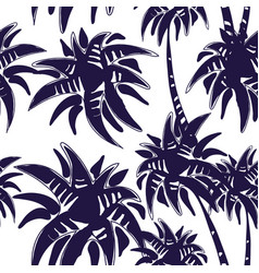 Palm tree pattern vector