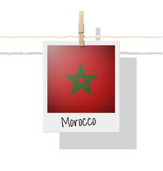 Photo of morocco flag vector