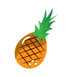 pineapple fruit icon image vector image