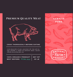 premium quality meat abstract pork vector image