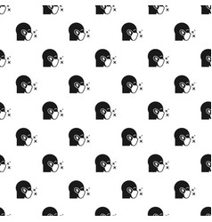 Protective air face mask pattern seamless vector