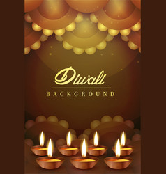 royal happy diwali religious posters vector image
