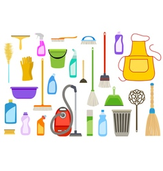 Set of cleaning supplies vector