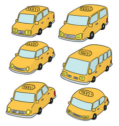 set of taxi vector image