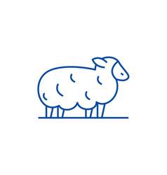 sheep line icon concept sheep flat symbol vector image