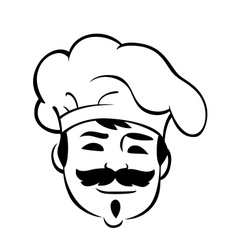Smiling chef with a moustache vector
