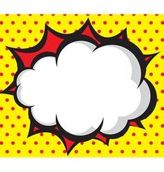 Speech bubble pop artcomic book background vector