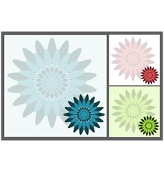 Square abstract backgrounds vector image