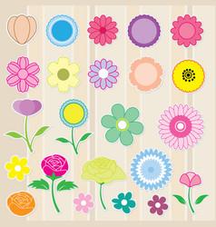 Sticker flower cute color icon vector