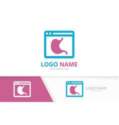 stomach and browser logo combination vector image