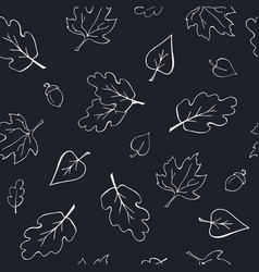 Thanksgiving seamless pattern on chalkboard vector