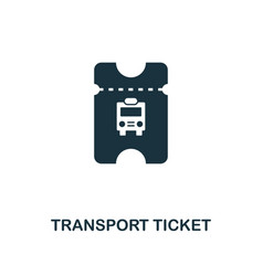 transport ticket icon monochrome style design vector image