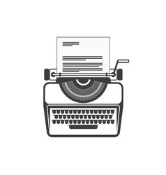 typewrite flat icon vector image