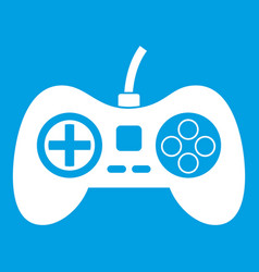 Video game console controller icon white vector