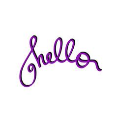 Violet hello handwritten phrase welcome hi vector
