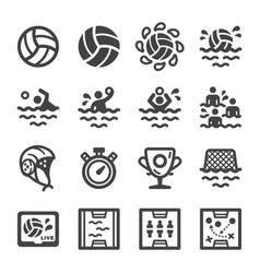 water polo icon set vector image