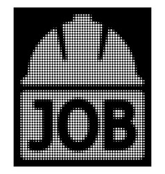 White halftone job icon vector
