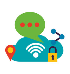 wifi free connection vector image
