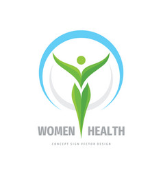 Women health logo template design element vector
