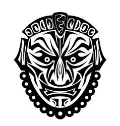 Ancient tribal mask vector image vector image