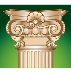 decorated sandy column top capital vector image vector image
