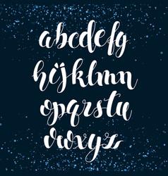 english alphabet modern brushed lettering vector image