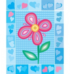 flowers and hearts vector image vector image