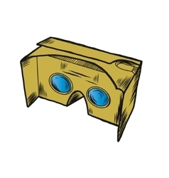 Simple VR cardboard glasses vector image vector image