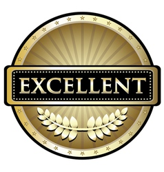 Excellent Gold Label vector image vector image