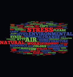 five ways to reduce environmental stress text vector image vector image