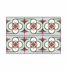 Gray and green tiles vector