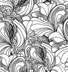 Seamless floral doodle background pattern in with vector image vector image