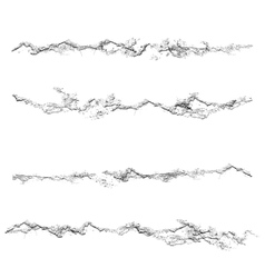 Set of grunge textures Black and white scratches vector image vector image