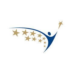 human logo with star vector image