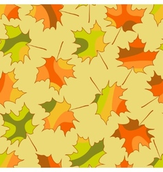 Mosaic maple leaf seamless pattern autumn seamless vector image