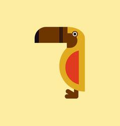 parrot kakadu bird vector image vector image