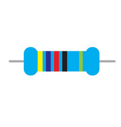 resistor icon on white background resistor sign vector image vector image