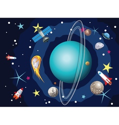 Uranus Planet in the Space4 vector image vector image
