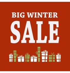 Winter sale background with white letters and vector image vector image