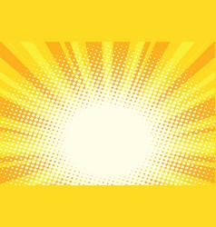yellow gold cartoon sunrise pop art background vector image vector image
