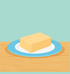 farm butter on the table vector image vector image