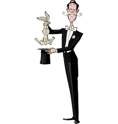 magician and the rabbit vector image vector image