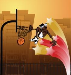 slam dunk urban vector image vector image